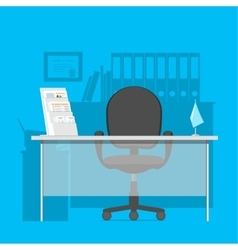 Workspace for a manager in office interior vector image