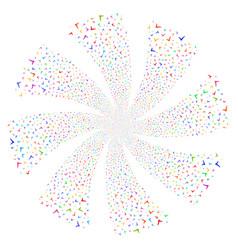 Yes fireworks swirl flower vector