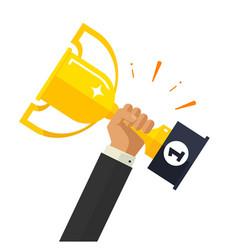 business goal achievement happy successful vector image