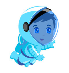 cute cartoon of an astronaut vector image vector image