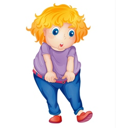 fat girl vector image vector image