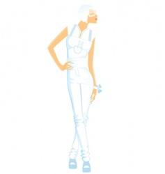 girl white vector image vector image
