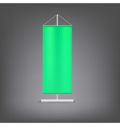 Green advertising stand Blank vector image