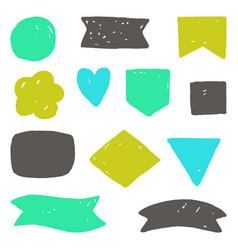 hand drawn grunge shapes vector image vector image