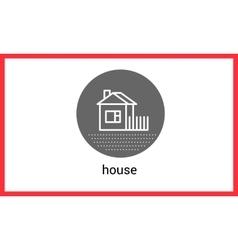 House building contour outline vector image vector image