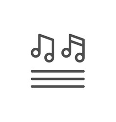 musical notes line icon vector image