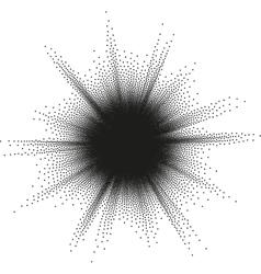 Starburst halftone EPS 10 vector image vector image