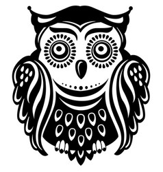 stylized decorated owl vector image