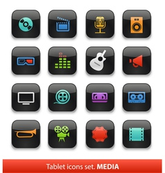 Tablet buttons collection isolate vector image vector image