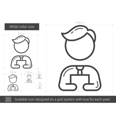 White collar line icon vector image