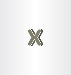 x letter logo logotype icon symbol company sign vector image vector image