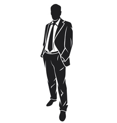 a standing businessman vector image vector image