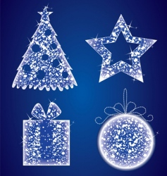 Christmas glow set vector image