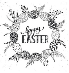easter greetting card vector image vector image
