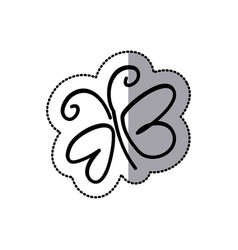 contour butterfly icon image vector image