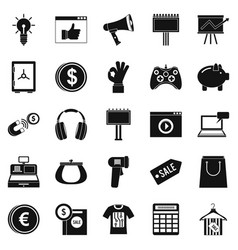 digital distribution icons set simple style vector image vector image