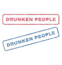 drunken people textile stamps vector image