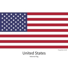 National flag of United States with correct vector image