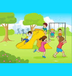 playing at the park vector image