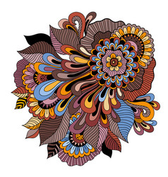zentangle floral ornament tattoo flower template vector image vector image