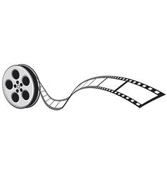cinema projector and film strip vector image vector image