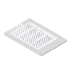 E-Book detailed isometric icon vector image