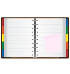 notebook organizer vector image