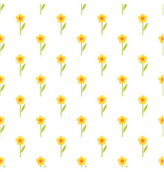pattern with yellow flowers vector image