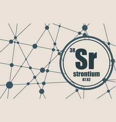 strontium chemical element vector image vector image