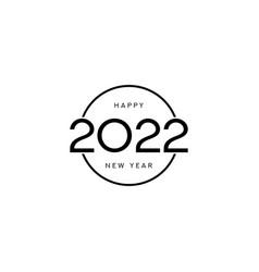 2022 happy new year symbol design vector image