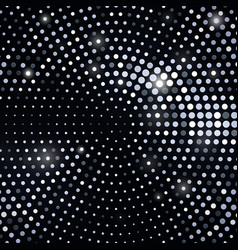 abstract black background with silver glitter vector image