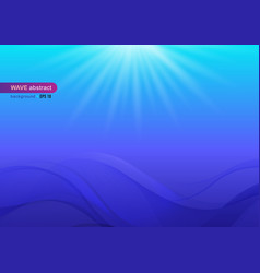 abstract blue wave and color gradient background vector image