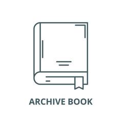Archive book line icon linear concept vector