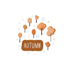 autumn handwritten lettering vector image