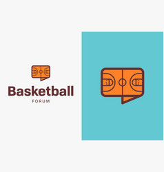 Basketball-court-logo-icon vector