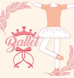beautiful ballerina ballet classic tutu vector image