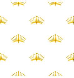 Big crown pattern flat vector