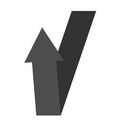black arrow sign vector image