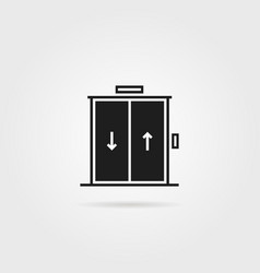 black elevator icon isolated on white vector image