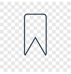 bookmark concept linear icon isolated on vector image