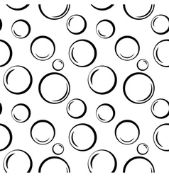 Bubbles geometric seamless pattern 1 vector