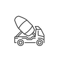 cement truck outline icon concrete mixer vector image