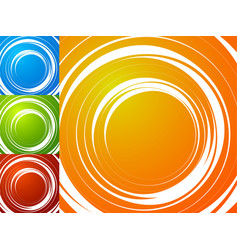 colorful bright spirally background spiral vortex vector image