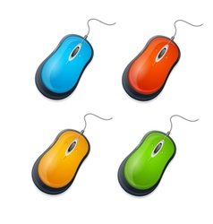 computer mouse set isolated on white vector image