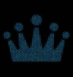 crown collage icon of halftone circles vector image