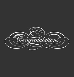 Decorative congratulations typography vector