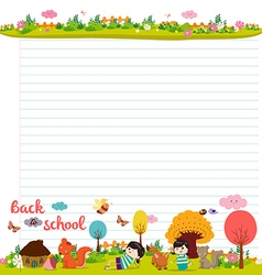 Design elements for notebook diary Goodbye summer vector
