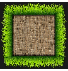 Eco frame vector image vector image