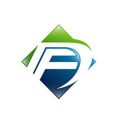 fd f d letter logo design creative modern letters vector image