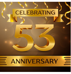 Fifty three years anniversary celebration design vector